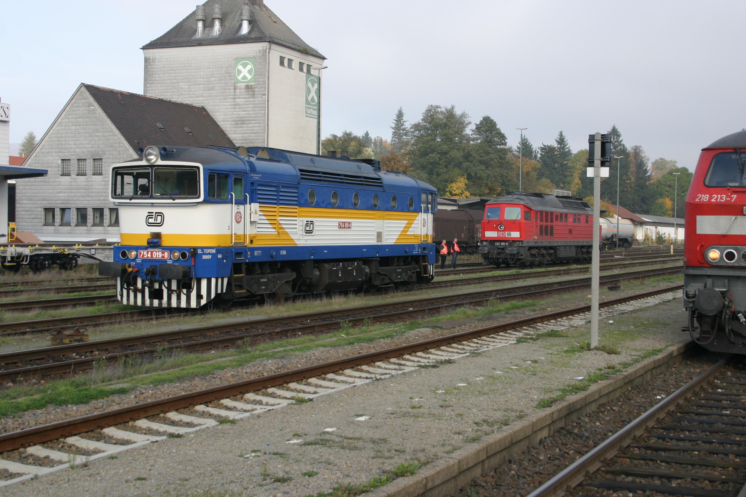 Furth im Wald Bahnhof 27.10.2013 mit Alex und